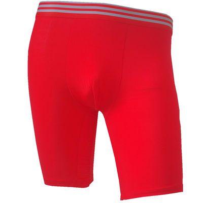大红色本命年男士内裤大码四角裤男冰丝青年运动加长防磨腿平角裤