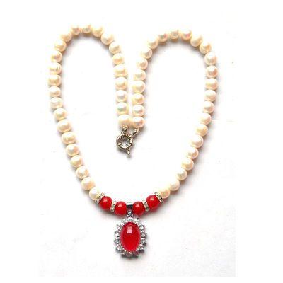 (限时买1送1)天然野生淡水珍珠项链送礼盒首饰妈妈母亲节生日礼品