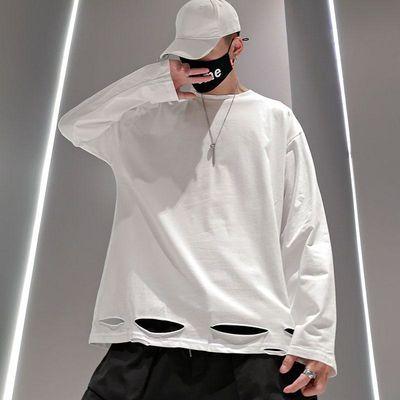 版型: 宽松; 品牌: Tagkita/她及其他; 服饰工艺: 免烫处理; 适用季节: 秋季; 基础风格: 青春流行; 颜色: 白色 灰色 黑色; 尺码: M L XL 2XL; 厚薄: 常规; 领型: 圆领; 袖长: 长袖; 适用对象: 青少年; 适用场景: 其他休闲;