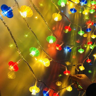 led小红灯笼过年装饰房间布置新年屋内装饰品春节彩灯串灯闪光灯
