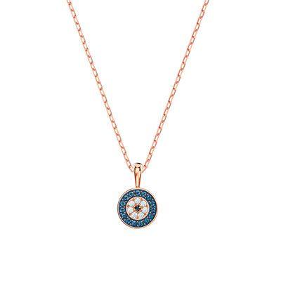施华洛LUCKILY神秘元素女项链清新浪漫玫瑰金女锁骨链送女友礼物