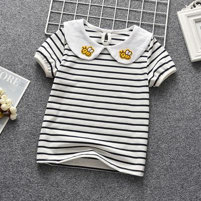 婴儿宝宝短袖t恤夏季薄款翻领儿童上衣1-3岁女宝宝女童半袖打底衫