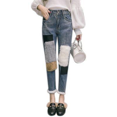 【特别注意 裤子没有弹力!】 裤子版型是宽松效果 ,裤子没有弹力的 ,加绒的建议拍大一码