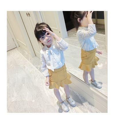 儿童套装童装秋季韩版蕾丝长袖荷叶裙尾两件套套装