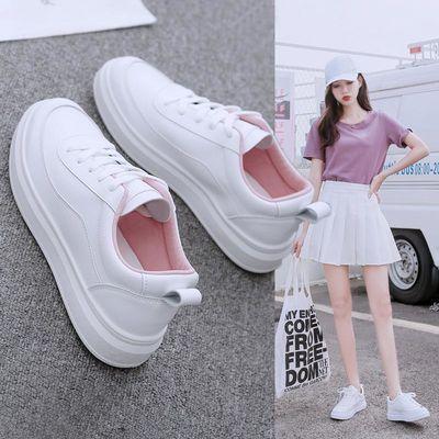 春款百搭低帮女装休闲女士运动学生平底新款低帮板鞋40大码小白鞋