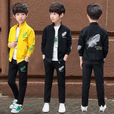 男童三件套儿童春秋装2020新款韩版中大童男孩时尚运动套装洋气潮