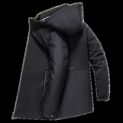 木笛2019冬季新款羽绒服男士中长款可拆卸内胆韩版保暖连帽外套潮