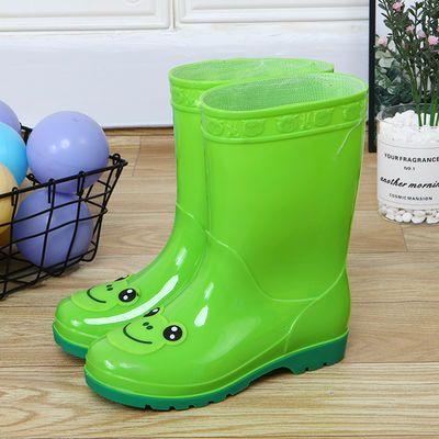 儿童雨鞋男童女童宝宝中筒小童小孩防水保暖防滑水鞋四季套鞋胶鞋