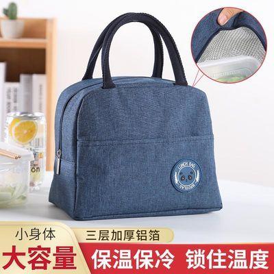 保温饭盒袋手拎装便当餐包上班带饭的手提袋子铝箔加厚小学生饭袋