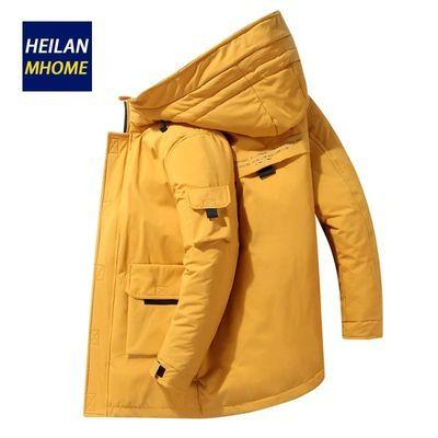 HEILANEHOME羽绒服男装中长款冬季加厚保暖潮外套男士2019新款