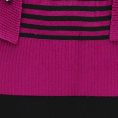春秋新款妈妈装中老年女装套装套头假两件套装上衣毛衣针织衫