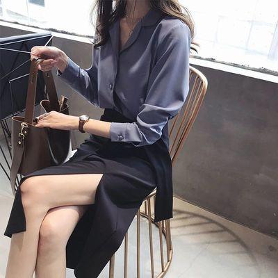气质女神优雅范泫雅裙ins半身裙子女夏装黑色中长包臀2019新款潮