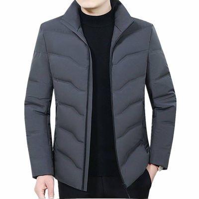 新款2019冬季男士羽绒服男中长款中年加厚休闲男装连帽抗寒羽绒服