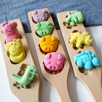 卡通烘焙清明果月饼南瓜饼干绿豆糕年糕青团家用面食木质立体模具
