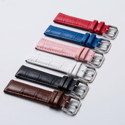 日日琪 代用dw浪琴天梭真皮手表带男女通用针扣表链配件12-24mm