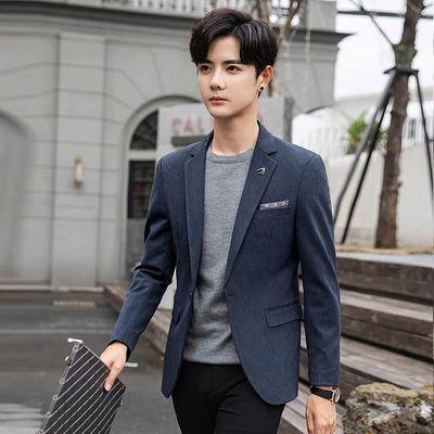 男士休闲西服套装韩版修身帅气潮流结婚小西装秋季商务正装单外套