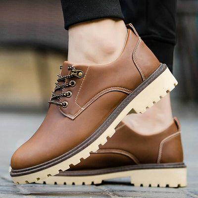 鞋子男新款英伦风男士皮鞋时尚休闲鞋驾车商务鞋潮单短靴男鞋子