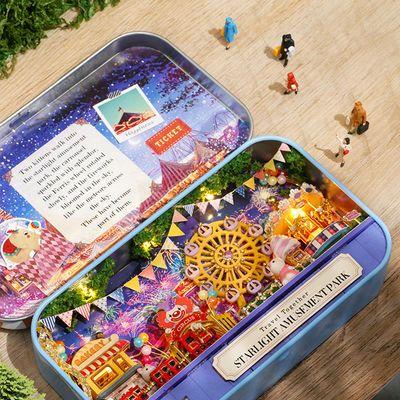 女孩玩具3d立体拼图儿童女生生日礼物手工小房子模型益智10 12岁