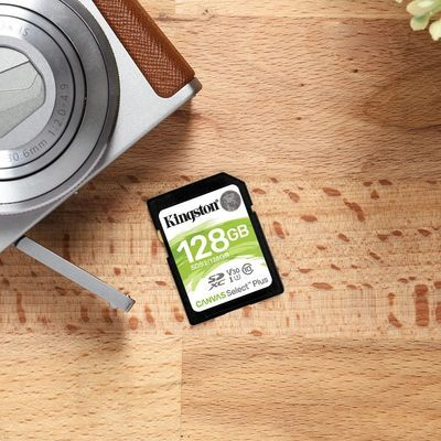 金士顿SD卡128G内存卡 CLASS10高速相机卡 数码相机存储卡