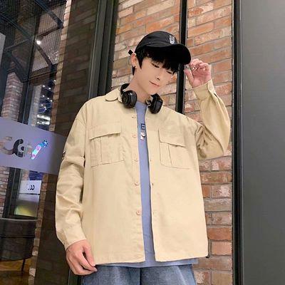 2019秋季新款男士衬衫长袖潮流韩版外穿上衣休闲秋装学生青年外套
