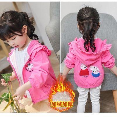 女童秋冬装新款加绒外套春秋小童上衣儿童装宝宝休闲夹克衫棒球服