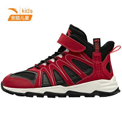 安踏儿童棉鞋2020新款男女童加绒高帮运动鞋运动百搭保暖雪地靴