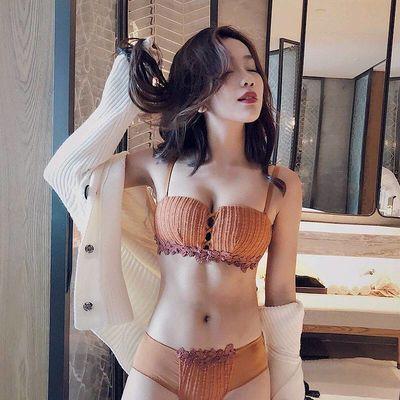 都市丽人【设计师原创】 内衣套装女文胸聚拢 无钢圈上托小胸性感