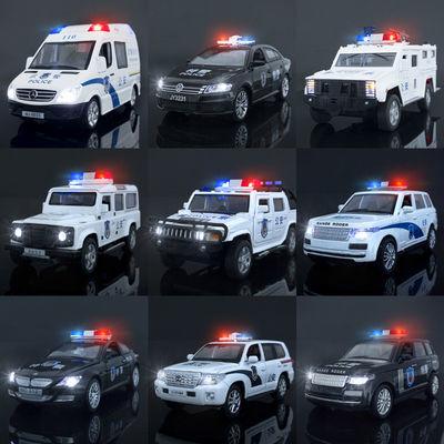 2020新品儿童警车玩具车仿真合金模型特警车男孩小汽车警察回力声
