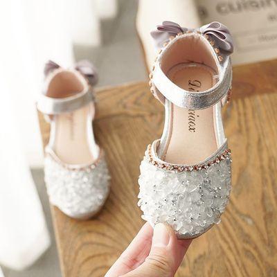 儿童浅口凉鞋2020春秋女童韩版时尚小女孩公主单鞋软底学生鞋皮鞋