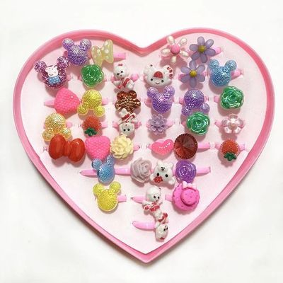 儿童玩具宝宝女童小公主首饰品奖品礼品赠品玩具卡通塑料圈小戒指