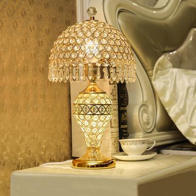 欧式台灯水晶台灯卧室床头灯夜灯客厅家用温馨创意浪漫结婚房台灯