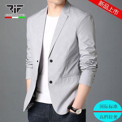 乔奇・阿玛尼新款休闲小西装外套男韩版修身潮流上衣青年帅气男装