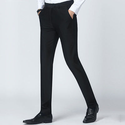 休闲西装裤男直筒学生裤子男韩版修身黑色男裤职业装长裤男装西裤