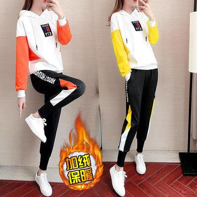 小香风运动套装秋季新款运动服套装女学生韩版宽松二件套时尚休闲气质女士服装潮