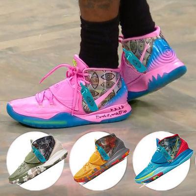 欧文6代篮球鞋城市限定首发纽约洛杉矶kyrie5战靴笑脸埃及运动鞋