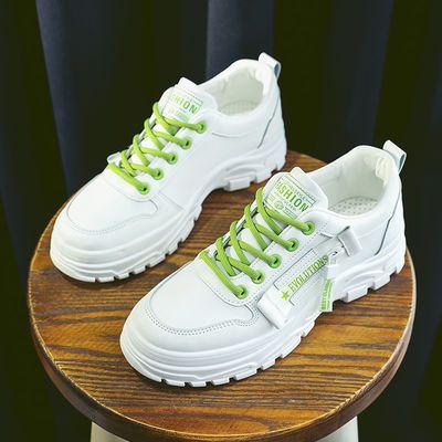 2020春新款休闲板鞋平底百搭韩版女士小白鞋女学生潮鞋皮面运动鞋
