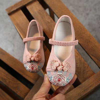 汉服鞋子儿童女童绣花鞋女古装手工复古汉鞋棉鞋中国风老北京布鞋