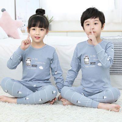 2020新款儿童秋衣秋裤套装男童女童秋冬纯棉内衣家居服两件套