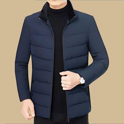 【特价推荐】冬季短款立领羽绒棉服男中年加大码棉袄棉衣外套男装