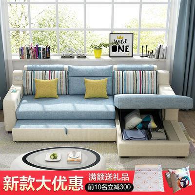 多功能折叠沙发床两用双人大小户型客厅转角贵妃储物智能现代沙发