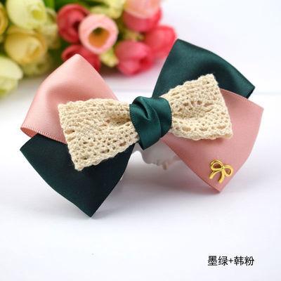 日韩手工缎带蝴蝶结发夹女时尚气质百搭盘发头花头饰品