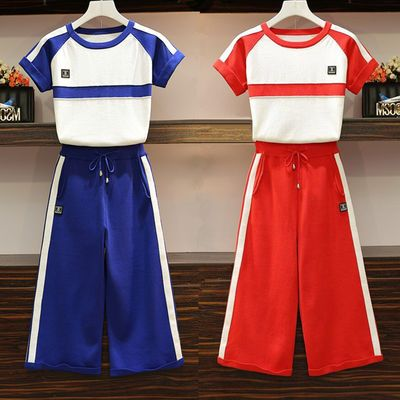 2020春装时尚套装职业制服女装女装休闲裤两件套装时尚