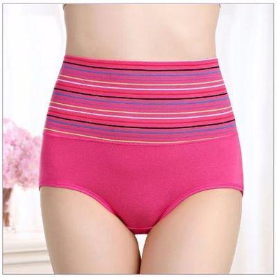 3条 莎宜高腰收腹内裤女士塑身产后塑形暖宫提臀翘臀三角裤头冬季