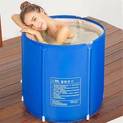 加厚折叠浴桶洗澡桶成人泡澡桶儿童洗澡盆婴儿浴盆家用浴缸游泳池