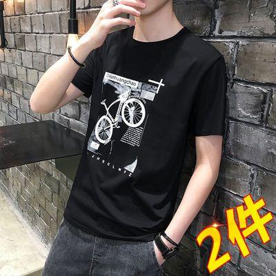 夏季短袖T恤男士圆领韩版学生半袖体恤潮流青少年打底衫上衣服男