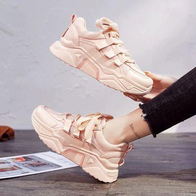 女2020新款春季女鞋百搭粉色休闲运动鞋跑步鞋学生