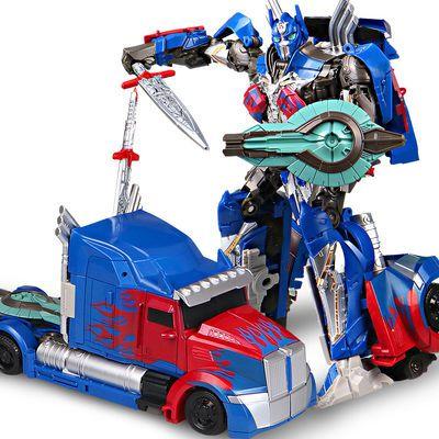 【买一变二】儿童合金版变形金刚擎天柱汽车男孩手动变形玩具模型