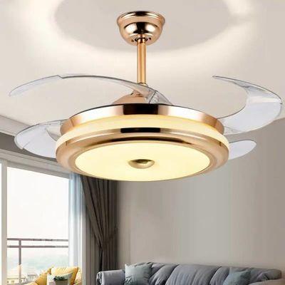 风扇灯 隐形吊扇灯客厅餐厅卧室LED风扇吊灯家用简约现代电扇灯具