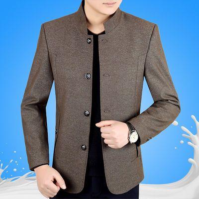 中年男士外套春季中老年男装春装夹克春秋款爸爸装上衣男秋季褂子