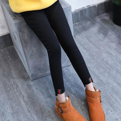 童装韩版女童铅笔裤春夏黑色中大童牛仔裤儿童打底裤外穿女孩薄款